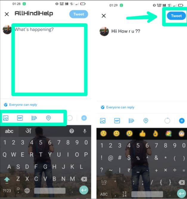 twitter par tweet kaise-karte hai in hindi