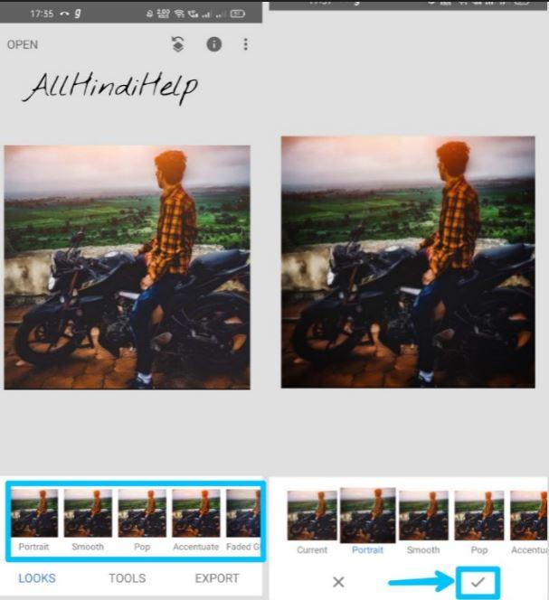 select photo looks