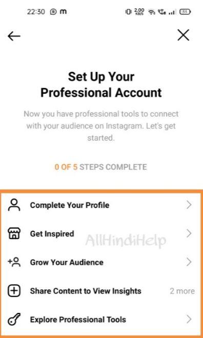 instagram professional account banane ka tarika