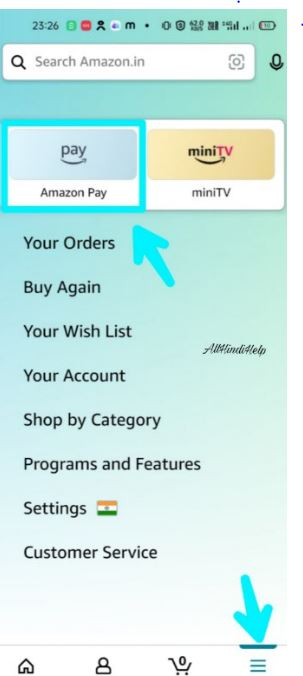 tap on amazon pay